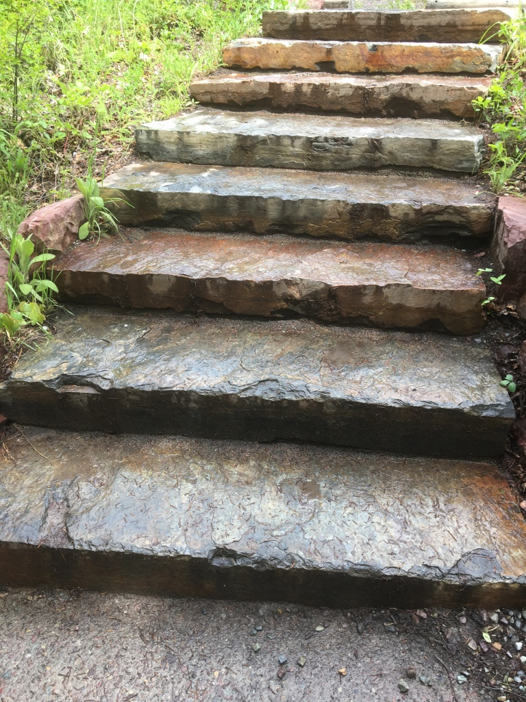 set of stone steps leading upward